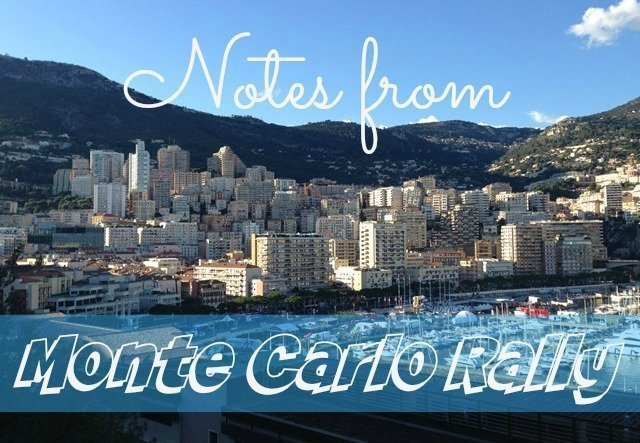 Notes from the Monte Carlo Rally